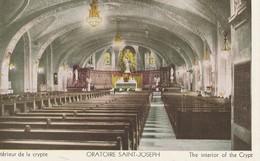 Montreal, Quebec Oratoire Saint-Joseph Interieur De La Crypte The Interior Of The Crypt Colle En Dos Glue On Back - Montreal