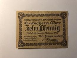 Allemagne Notgeld Allemagne Wiebelskirchen 10 Pfennig - [ 3] 1918-1933 : République De Weimar