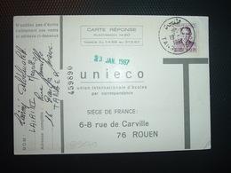 CARTE REPONSE T TP 020 OBL.19-1 1967 TANGER - Maroc (1956-...)
