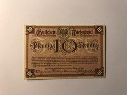 Allemagne Notgeld Allemagne Wiedenbruck 10 Pfennig - [ 3] 1918-1933 : République De Weimar