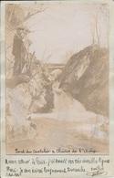 Pont Du Castelet Et Chutes De L'Ariège - Carte-photo (artisanale) - 2 Scans. - France