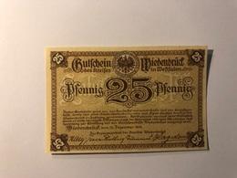 Allemagne Notgeld Allemagne Wiedenbruck 25 Pfennig - [ 3] 1918-1933 : République De Weimar