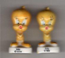 Lot 2 Fèves Brillantes - BUGS BUNNY ET SES AMIS  / - TITI 1994 Alcara & 1995 - Cartoons