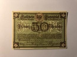 Allemagne Notgeld Allemagne Wiedenbruck 50 Pfennig - [ 3] 1918-1933 : République De Weimar