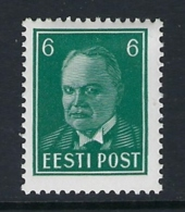 ESTONIA 1936 PRESIDENT PATS 6s GREEN Nº 140A - Estonie