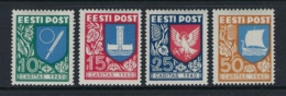 ESTONIA 1940 ARMOIRIES  Nº 171/174 - Estonie