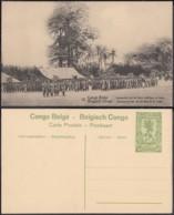 Congo Belge - EP Vue 5C Vert - Nº12 Inspection De La Force Publique A Irebu (DD) DC1062 - Belgian Congo - Other