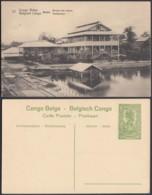 """Congo Belge - EP Vue 5C Vert  - Nº27  Boma """" Bureau Des Postes """" (DD) DC1067 - Belgian Congo - Other"""