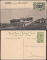 "Congo Belge - EP Vue 5C Vert Voyagé - Nº30 Shinkakasa "" Steamer Chargeant Des Galets "" (DD) DC1069 - Belgian Congo - Other"