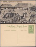 """Congo Belge - EP Vue 5C Vert - """" Noirs Réunissant Du Bois Pour Le Chauffage Des Vapeurs """" (DD) DC1071 - Belgian Congo - Other"""