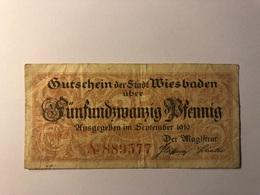 Allemagne Notgeld Allemagne Wiesbaden 25 Pfennig - [ 3] 1918-1933 : République De Weimar