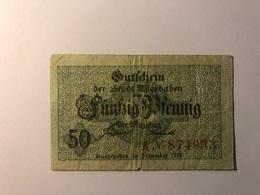 Allemagne Notgeld Allemagne Wiesbaden 50 Pfennig - [ 3] 1918-1933 : République De Weimar