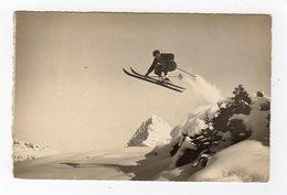 Dec18    83289   Photo Carte Sauteur à Ski  Gelandesprung  Eiger - Winter Sports