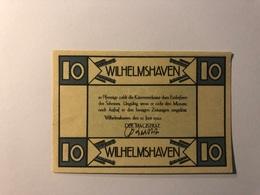 Allemagne Notgeld Allemagne Wilhelshaven 10 Pfennig - [ 3] 1918-1933 : République De Weimar