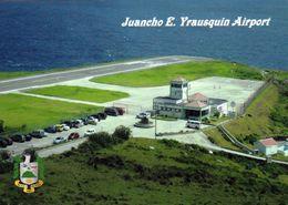 1 AK Saba Island * Blick Auf Die Insel Saba - Mit Dem Juancho E. Yrausquin Airport * Karibik * Caribbean * - Saba