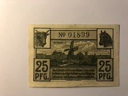Allemagne Notgeld Allemagne Wilster 25 Pfennig - [ 3] 1918-1933 : République De Weimar