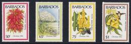 BARBADOS 1984 FIORI NATALE - Barbades (1966-...)