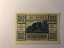 Allemagne Notgeld Allemagne Wilster 50 Pfennig - [ 3] 1918-1933 : République De Weimar