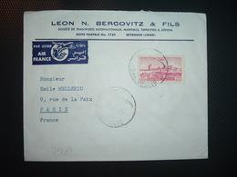 LETTRE TP 35P OBL.2 V 52 BEYROUTH RP + LEON N. BERCOVITZ & FILS TRANSPORTS - Liban
