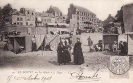 3135 503Le Portel, Les Hôtels Et La Plage 1903 (petite Pli Droite Sup.) - Le Portel