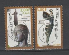 FRANCE / 1999 / Y&T SERVICE N° 120/121 ** : CONSEIL De L'EUROPE (Aurige/Niké) - Gomme D'origine Intacte - Service