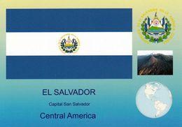 1 AK El Salvador * Die Flagge, Das Wappen, Einen Vulkan Und Die Position Von El Salvador In Mittelamerika * - Salvador