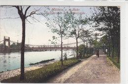 Mülheim A.d. Ruhr - Ruhranlagen Mit Kettenbrücke 1907 - Mülheim A. D. Ruhr