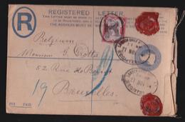 Entier Postal - Lettre Recommandé 1894 - Postage And Inland Revenue- Avec Cachet De Cire - Entiers Postaux