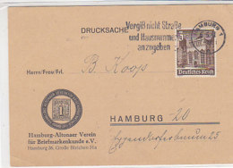 Drucksache Mit 751 Aus HAMBURG 6.5.41 Vom Hamburg-Altonaer Verein Für Briefmarkenkunde - Briefe U. Dokumente