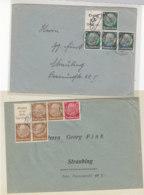 Zwei Briefe Mit Zusammendrucken - Deutschland