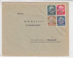Hübscher Brief Mit 4-Farb Frankatur Aus Eisenberg 26.6.35 An Postasistent In Brörup/Dänemark SST - Deutschland