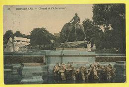 * Brussel - Bruxelles - Brussels * (nr 37) Cheval à L'abreuvoir, Couleur, Statue, Parc, Landau, Kinderwagen, Buggy, TOP - Bruxelles-ville