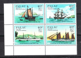 Palau - 1984. UPU. Velieri. Sailing Ships. Complete MNH Series - Barche