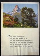 ZERMATT Riffelalp Matterhorn Gedicht S. J. Kuhn - VS Wallis