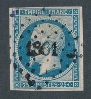 N-236: FRANCE: Lot Avec N°15 Obl Pc 1861 (réparé, Bel Aspect) - 1853-1860 Napoleon III