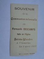 Réf: XXX         Communion Solennelle   DESCAMPS  Fernande   à  FRAMERIES - Communion
