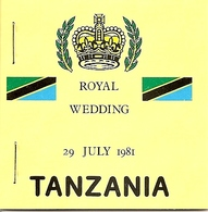 TANZANIA, 1981, Booklet A, Royal Wedding, Upright - Tanzanie (1964-...)