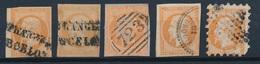 N-238: FRANCE: Lot Avec N°16 Obl étrangères 1er Et 2ème Choix, Cachet Perlé De Turquie, Piqage 2ème Choix - 1853-1860 Napoleon III
