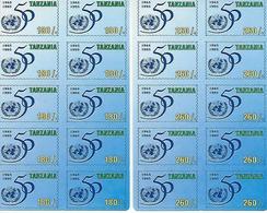 TANZANIA, 1995, Stampcard 1 + 2, UNO 50 Years - Tanzania (1964-...)
