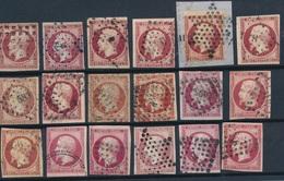 N-242: FRANCE: Lot Avec N°17A/B 2ème Choix, Courts Ou Clairs - 1853-1860 Napoleon III