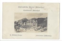 21116 - Interlaken Splendide Hotel Adlerhof  Publicité Au Verso Voir Scan (attention Pli) - BE Bern