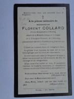 Réf: 41-17-50.        Décès  COLLARD  Florent Né à TRISOGNE-PESSOUS  Bourgmestre De VIRELLES - Décès