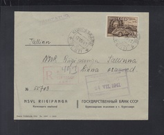 Russland Besetzung Estland Estonia Brief 1941 Kuressare - Estland