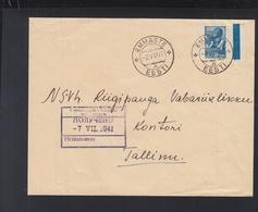 Russland Besetzung Estland Estonia Brief 1941 Emmaste Nach Tallinn - Estland