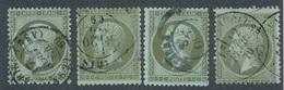 N-244: FRANCE: Lot Avec N°19 Obl (4) - 1853-1860 Napoleon III