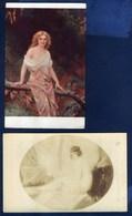 Salon Paris - ALBERT PENOT CHASTETE - A.BOYE IN THE FOREST - 2 CARTOLINE - Pittura & Quadri