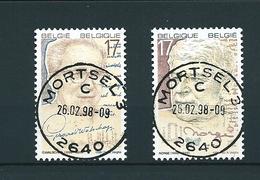 [2138] Zegels 2736 - 2737 Gestempeld - Belgique