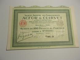 ACFOR & CUIRVET (1929) - Non Classés