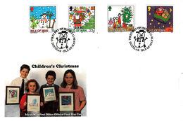 Christmas, Noël, Weihnachten, Jul, Navidad 1996 - Isle Of Man - FDC - Man (Ile De)