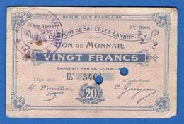 Sailly-lez-lannox  20  Fr   59/2281   R2 - Bons & Nécessité